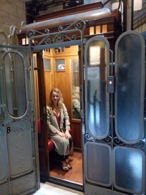 The incredible lift at Casa Mathilda.
