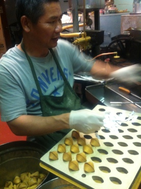 Fortune cookies in the making...
