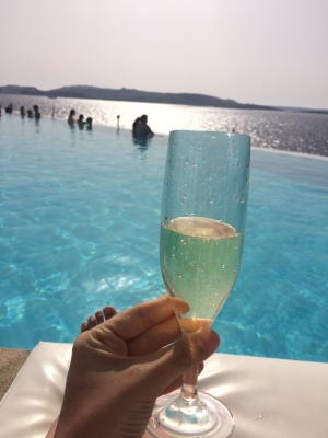 Prosecco & infinity views at Cafe del Mar