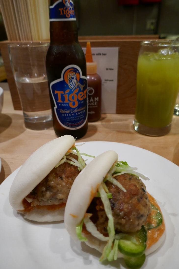 Chicken Meatball Bun at Momofuku