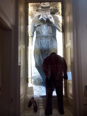 Churchill exhibit at Blenheim Palace.