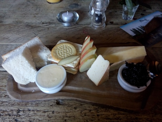 Cheese plate at the Plough Inn in Finstock.