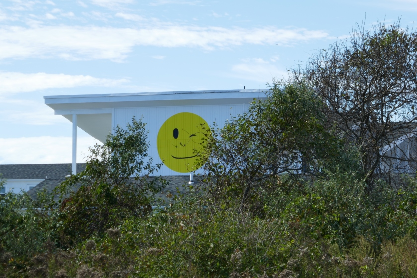 Hero Beach Club Montauk's smiley face