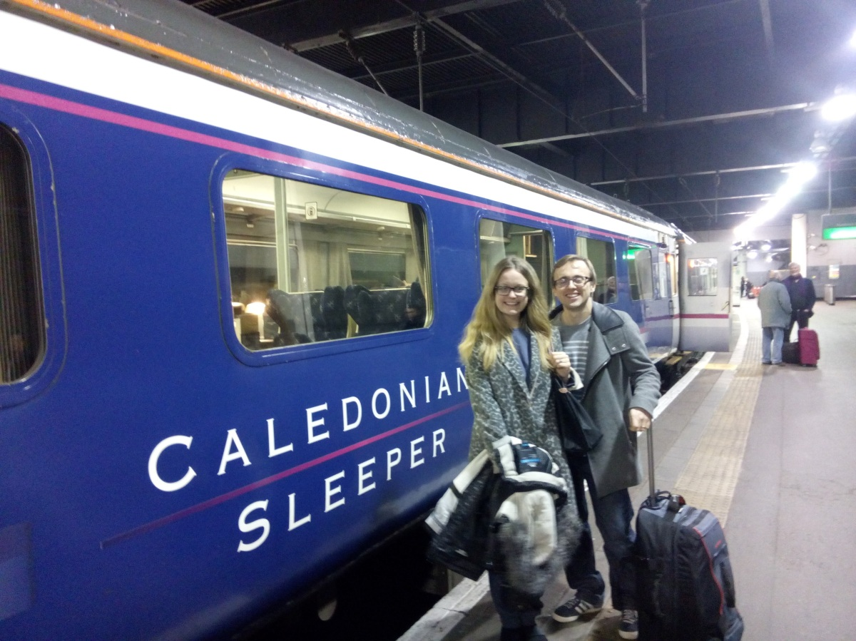 Taking the sleeper train to Scotland