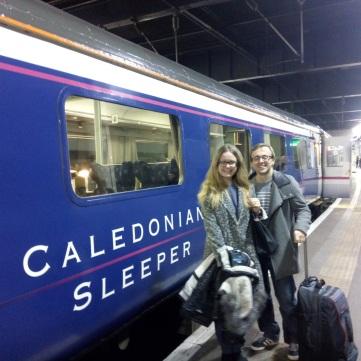 The Caledonian Sleeper at King's Cross.