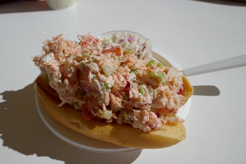 Lobster roll from the Clam Bar on the Montauk Highway