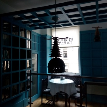 The Willow Tea Rooms in Glasgow, inspired by Rennie Mackintosh.