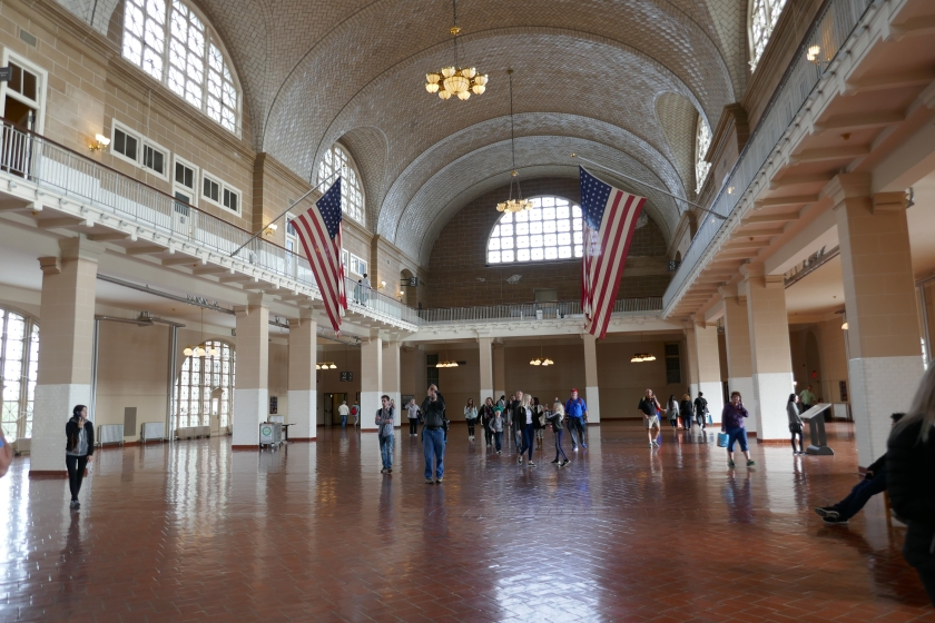 Reception hall at Ellis Island
