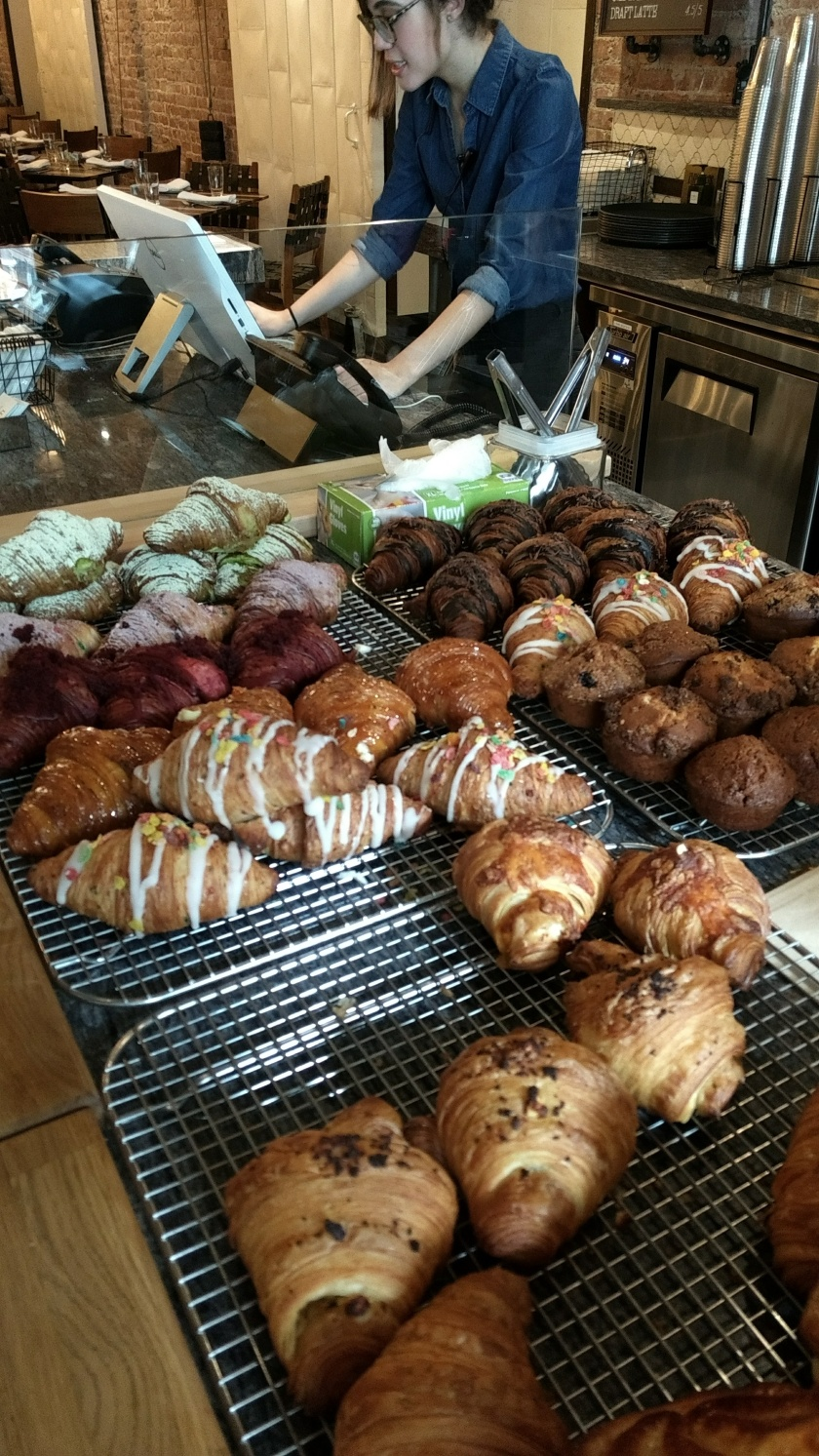 Colorful croissants at Union Fare Gastrohall